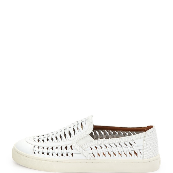 b020d44e89fe Tory Burch Huarache Slip On Sneakers Spark White. M 5aa71fd036b9debe46a5958c